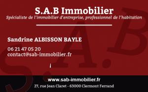 carte visite SAB Immobilier